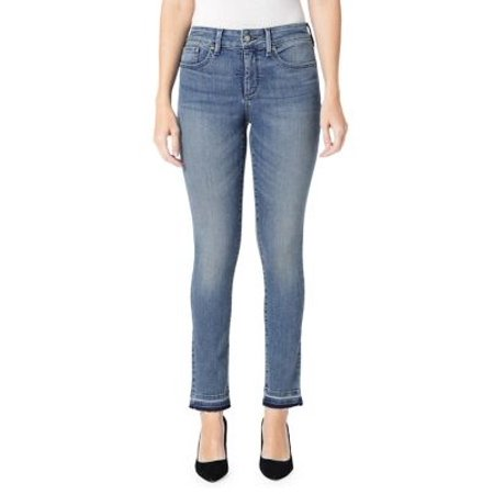 Sheri Slim Ankle Released Hem Jeans
