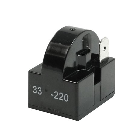 Unique Bargains Black Plastic Shell 33 Ohm Single Pin PTC Starter Relay for