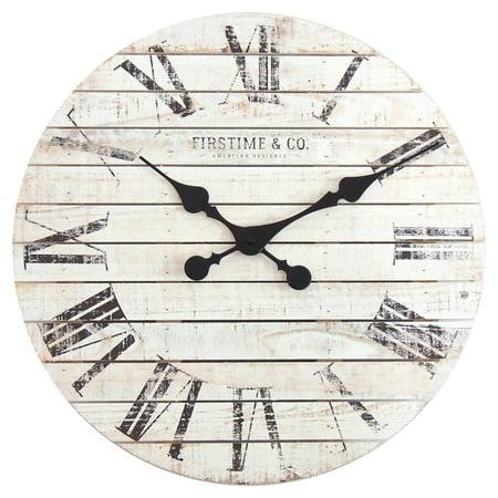 FirsTime Shiplap Wall Clock ()