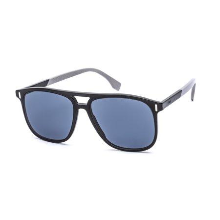 Fendi Men's Black Square Sunglasses FF M0056/S 087