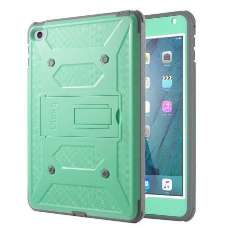 iPad Mini 4 Case, ULAK Hybrid Shock Absorbing Heavy Duty Rugged Screen Protector Hard Case with Kickstand Full Body Anti-slip Protective Cover For Apple iPad Mini