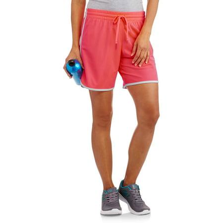 Danskin now women 39 s active long mesh basketball shorts for Women s fishing shorts