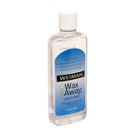 Weiman 8oz Wax Away Candle Remover Fabric Cleaner Cloth Furniture Carpeting Undo