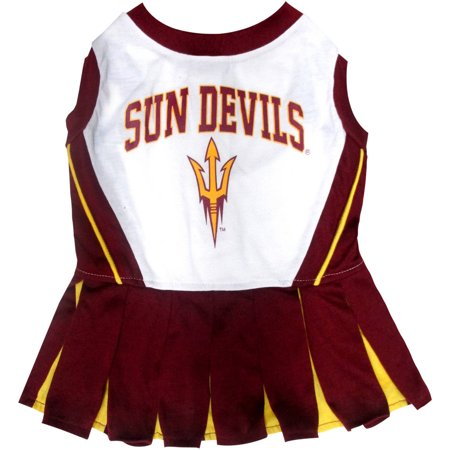 Pets First College Arizona State Sun Devils Cheerleader, 3 Sizes Pet Dress Available. Licensed Dog Outfit - Devil Outfits