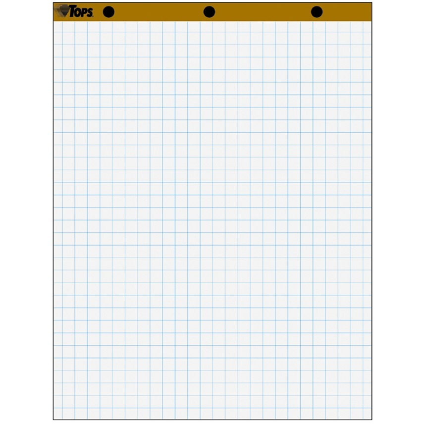 """TOPS, TOP7900, 1"""" Grid Square Easel Pads, 4 / Carton"""