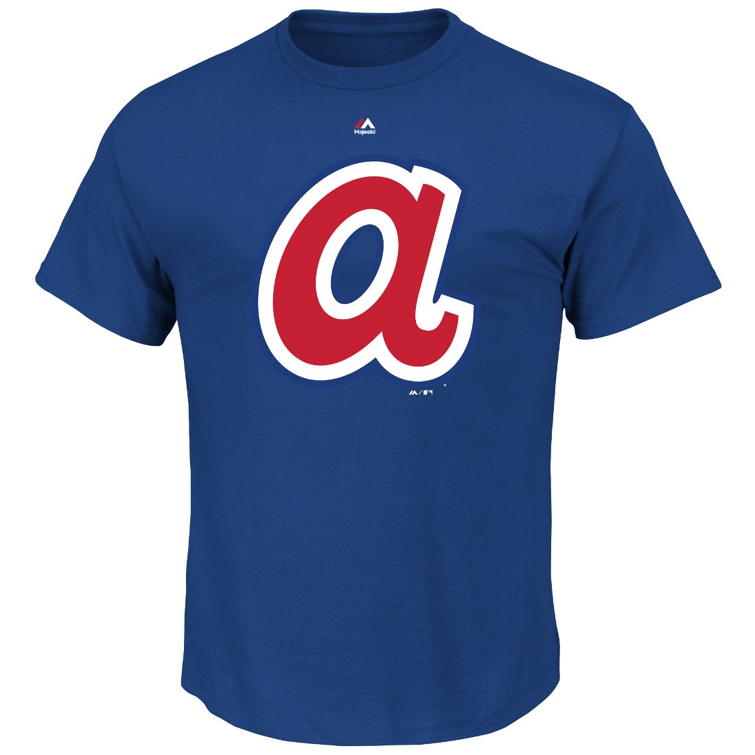 "Atlanta Braves Majestic MLB ""Official Logo"" Cooperstown Men's S/S T-Shirt"