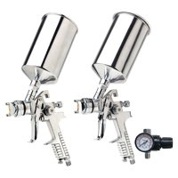 Titan 19100 Tool 3-piece Hvlp Spray Gun Kit [1.4 Mm And 1.7 Mm Needle Nozzle Set]