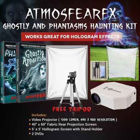 Halloween Atmosfearfx Ghostly Apparitions and Phantasms DVD Video Projector Kit, 1200 Lumen Projector with 640 x 480 - Halloween Dvd Projector
