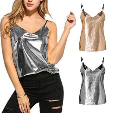 Sexy Crop Tops Womens Casual Sling Slim Top 2019 Spring Summer Sleeveless Camisole Solid Cropped Tops Beach Casual Cover Up
