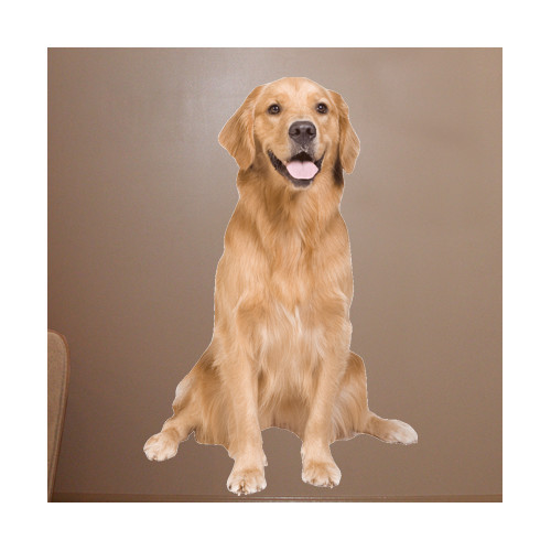Wallhogs Golden Retriever Cutout Wall Decal
