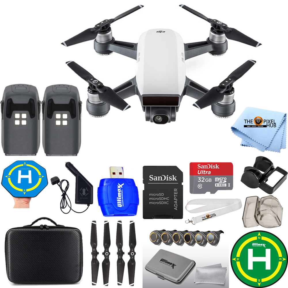 UNASSIGNED DJI Spark Quadcopter EXTREME 2 BATTERY BUNDLE WITH CARRY CASE PLUS MORE