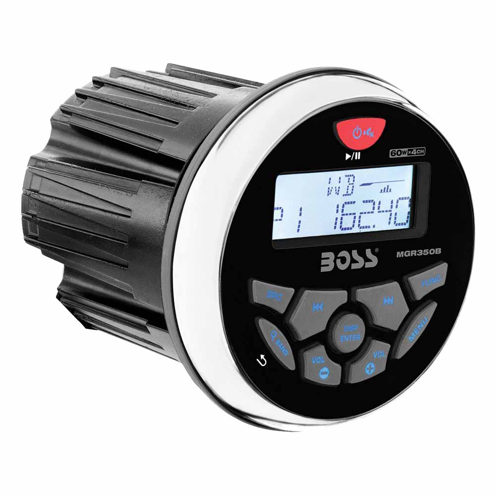 Boss Audio 3 Inch Marine MP3/Radio Stereo Bluetooth ATV Boat Receiver | MGR350B