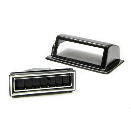 VINTAGE AIR Black/Chrome Rectangle Kick Panel Driver Side Louver P/N 49051-VUL