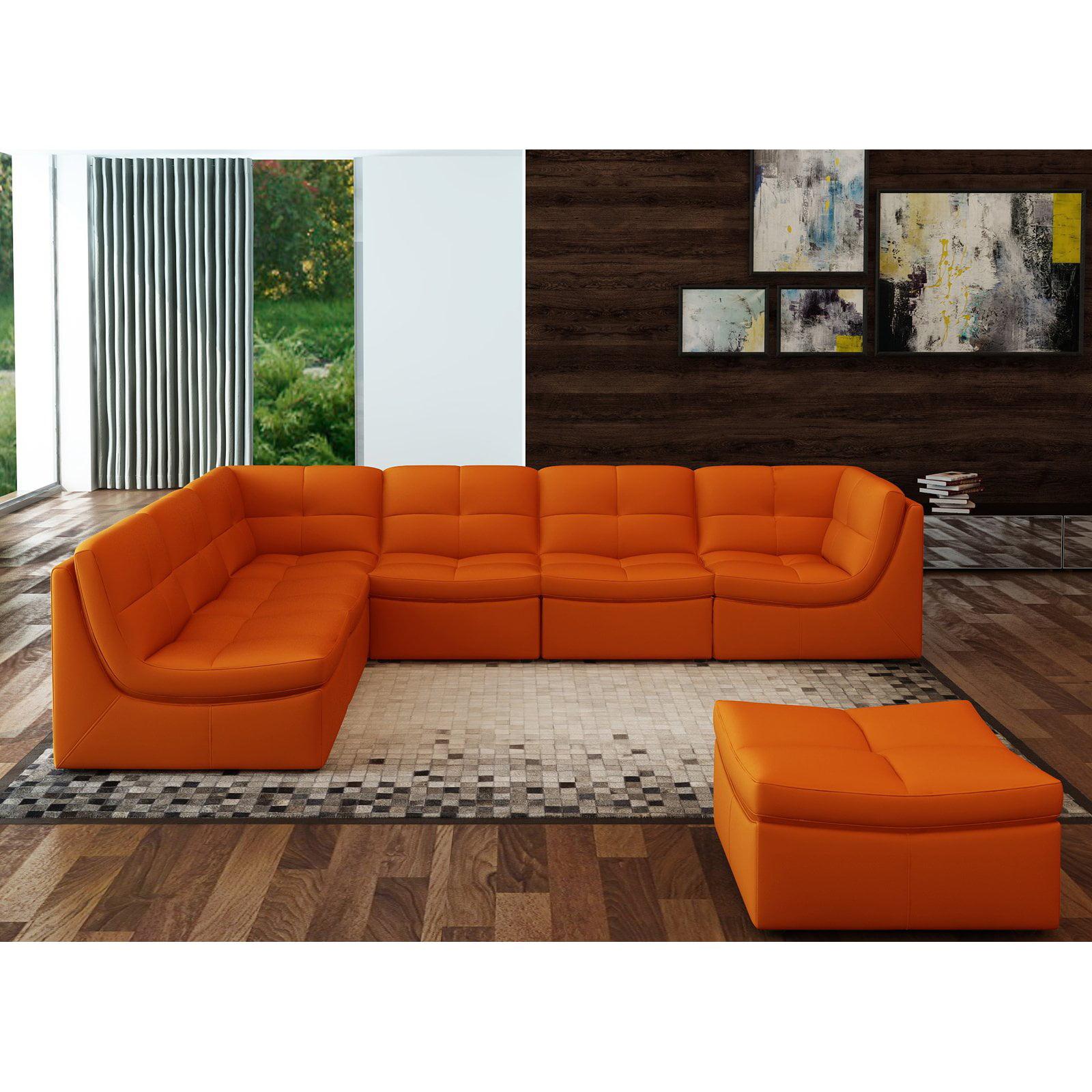 J Amp M Furniture Lego 7 Piece Sectional Sofa Set Walmart Com