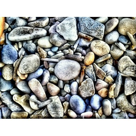 Peel-n-Stick Poster of Stones Mosaic Texture Poster 24x16 Adhesive Sticker Poster Print