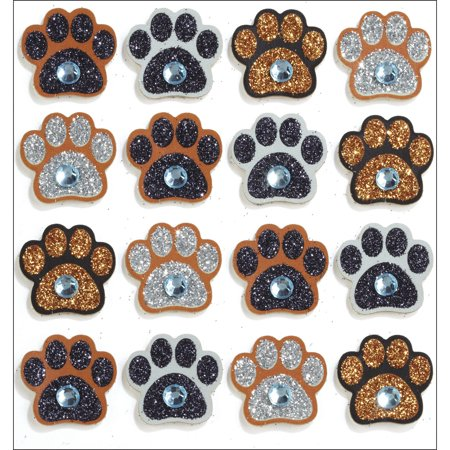 Jolee's Boutique Dimensional Stickers-Paw Prints (Jolee's Boutique Halloween)