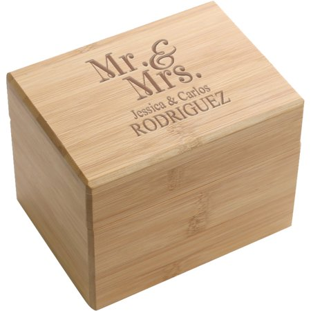 Mr. & Mrs. Personalized Recipe Box (Personalized Boxes)