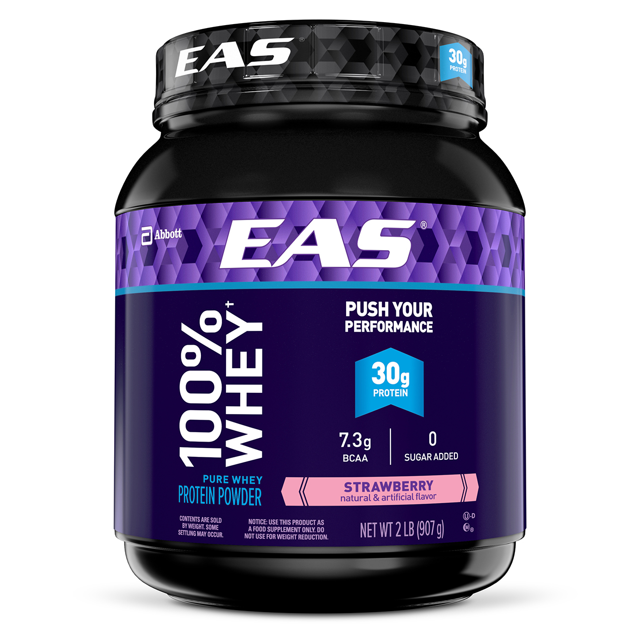 EAS 100% Whey Protein Powder, Strawberry, 2 lb (Pack of 2)