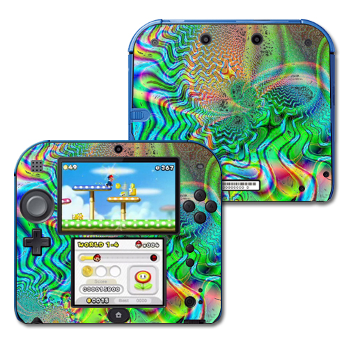Mightyskins Protective Vinyl Skin Decal Cover for Nintendo 2DS wrap sticker skins Psychedelic