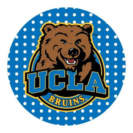 """UCLA Bruins 4"""" Round Trendy Polka Dot Magnet"""