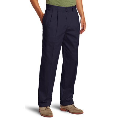 IZOD NEW Navy Blue Mens Size 38X34 Khakis Chinos Solid Pleated Pants