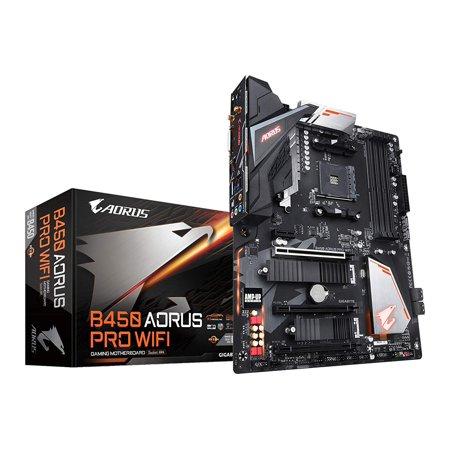 GIGABYTE B450 AORUS PRO WIFI (AMD Ryzen AM4/M.2 Thermal Guard with Onboard WIFI/HDMI/DVI/USB 3.1 Gen 2/DDR4/ATX/Motherboard) Amd Based Motherboards