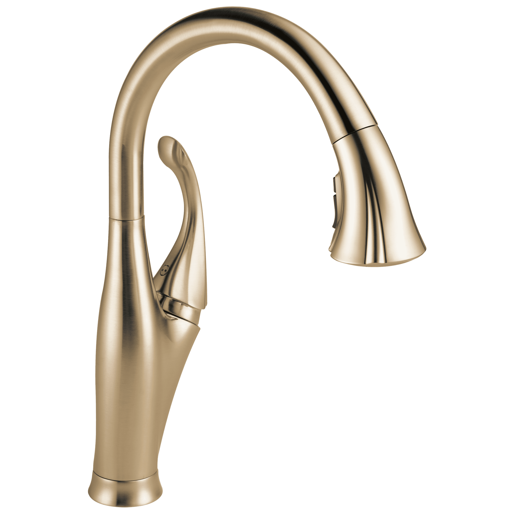 Delta Addison Single Handle Pull-Down Kitchen Faucet with ShieldSpray Technology, Champagne Bronze
