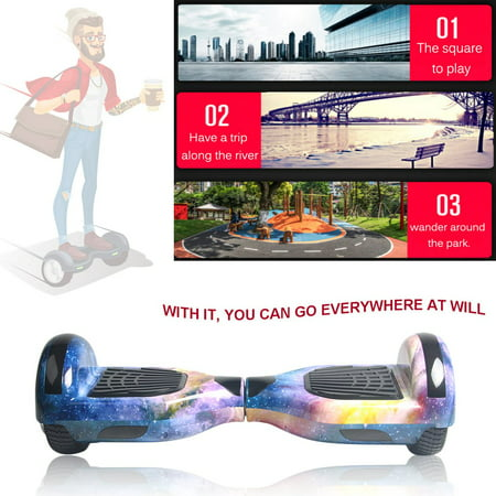 6 5 Inch Self Balancing Electric Scooter Led Skate Board Support Speaker Function Us Plug