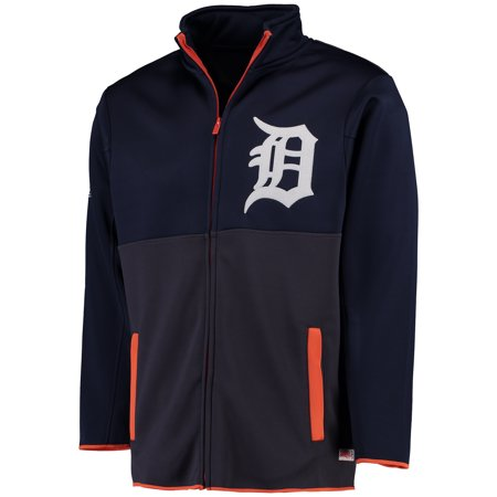 Men's Stitches Navy Detroit Tigers Fashion Track Jacket