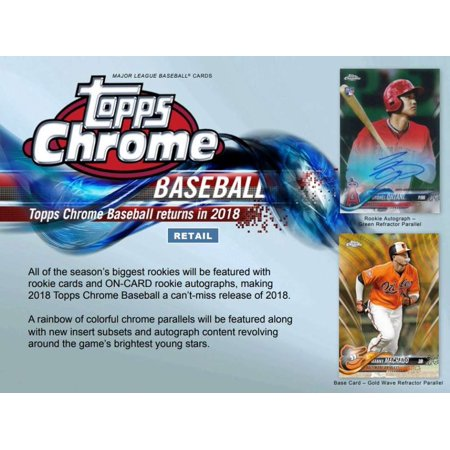 2018 Topps Chrome Baseball Jumbo Box 12 Packs5 Autographs