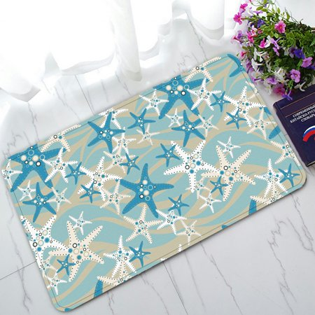 ZKGK Starfish on the Beach Non-Slip Doormat Indoor/Outdoor/Bathroom Doormat 30 x 18 - Wicker Beach Mat