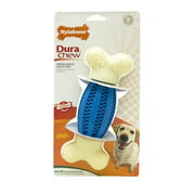 Nylabone Dura Chew Natural Flavored Double Action Football Dental Chew Dog Toy
