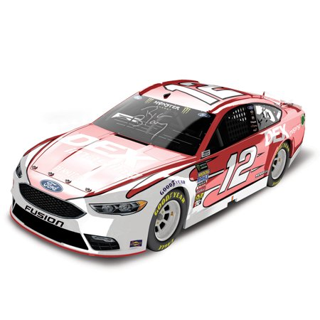 Ryan Blaney Action Racing 2018 #12 DEX Imaging Autographed Autographed 1:24 Color Chrome Die-Cast Ford Fusion - No Size