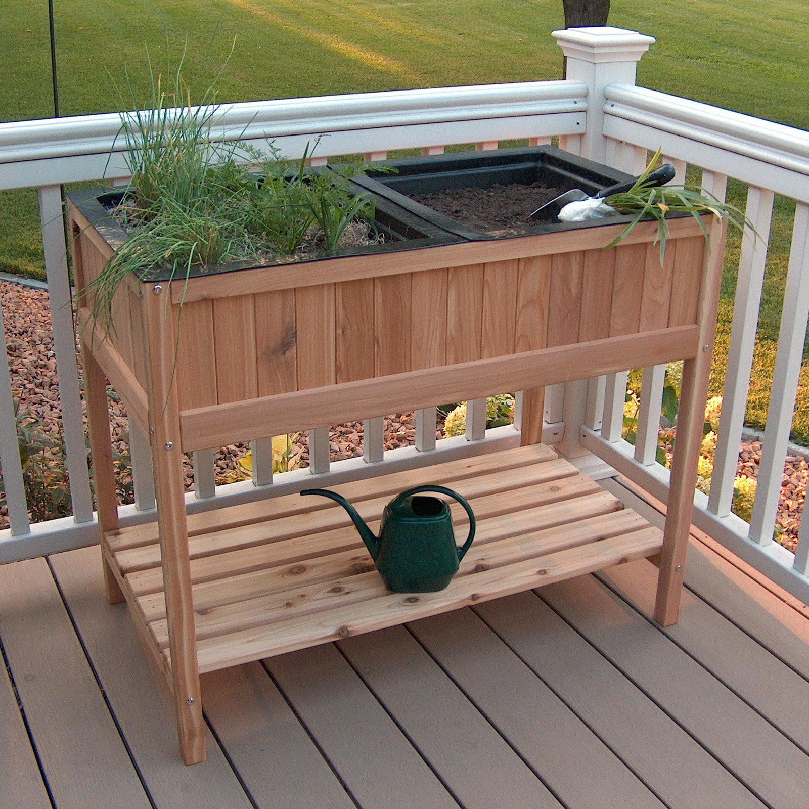Prairie Leisure Herb Garden Raised Planter with 2 Liners - Walmart.com