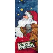 "Midnight Santa Christmas Garden Flag Banner Decorative Yard Banner 12"" x 30"""