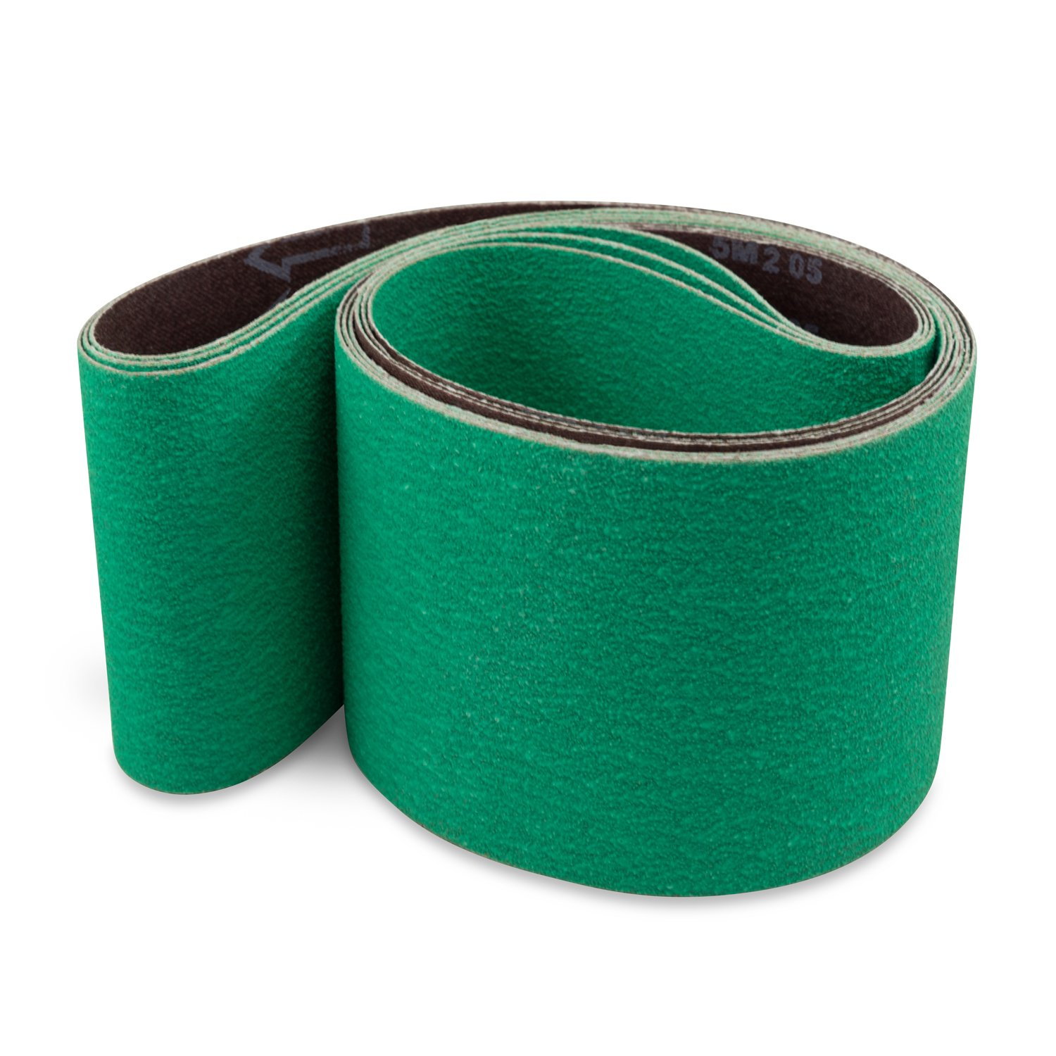 4 X 36 Inch Metal Grinding Ceramic Sanding Belts, Extra Long Life, 3 Pack by Red Label Abrasives