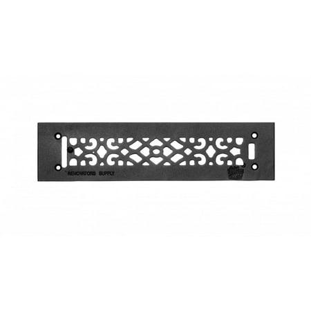 Heat Air Grille Cast Victorian Overall 3 1/2 x 14 | Renovators (Cast Iron Heat Registers)