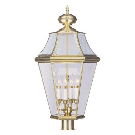 Livex Lighting Georgetown 4 Light Outdoor Post Lantern