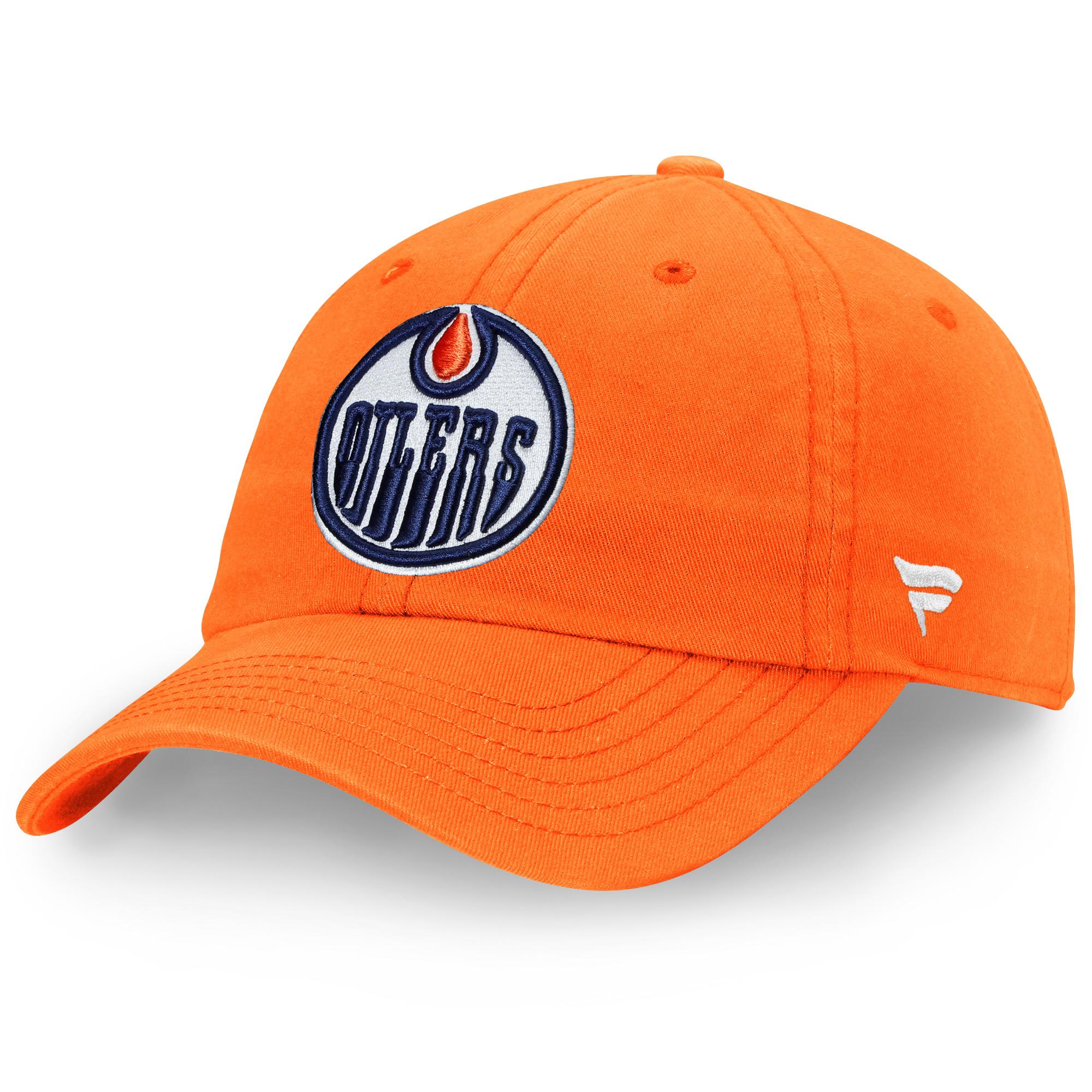 Edmonton Oilers Fanatics Branded Elevated Core Adjustable Hat - Orange - OSFA