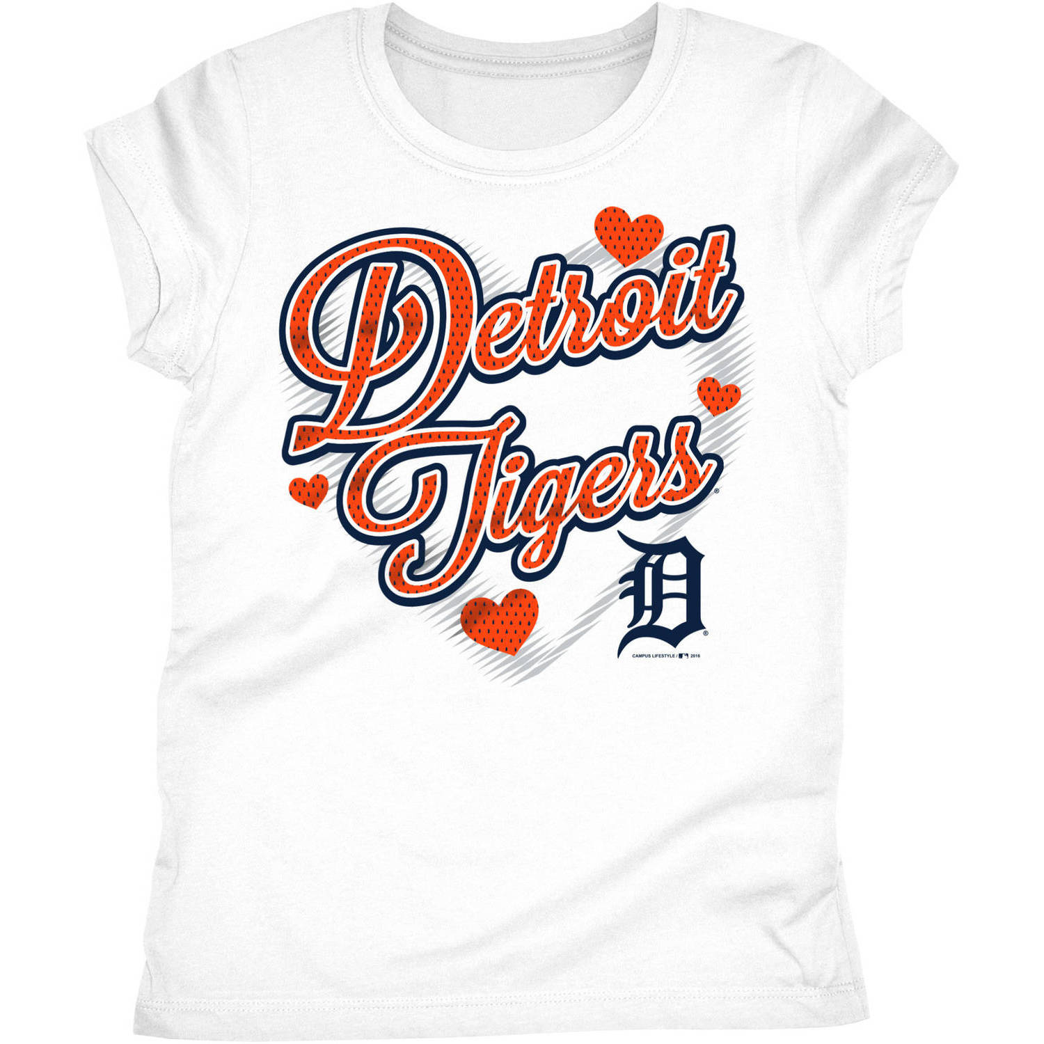 Detroit Tigers Girls Short Sleeve Graphic Tee