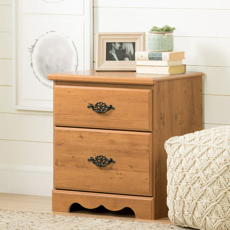 South Shore Prairie Nightstand, Country Pine Bedroom French Country Nightstand
