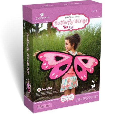 Butterfly Wings Kids Sewing Kit Craft For Girls Ages 8+ (Kid Wings)