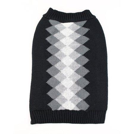 Argyle Dog Sweater by Midlee (XX-Large, Black)