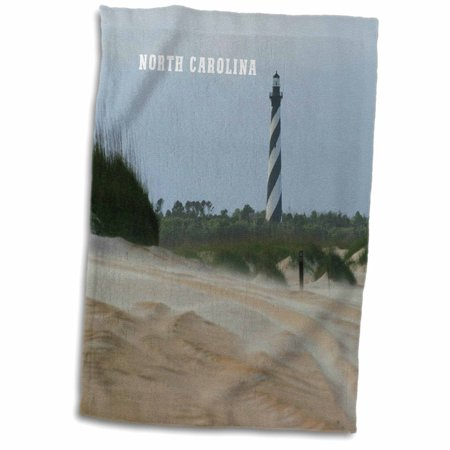 3dRose View of Cape Hatteras Lighthouse On Outer Banks - Towel, 15 by 22-inch