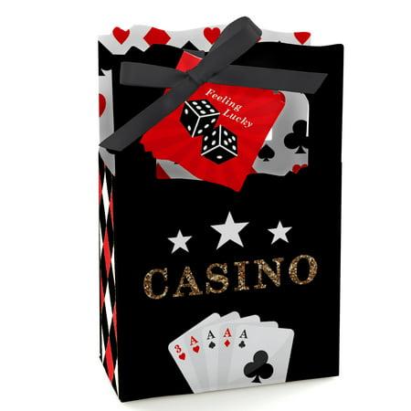 Casino Favors (Las Vegas - Casino Party Favor Boxes - Set of)