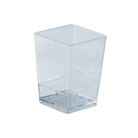 Square Dessert Cups Clear Plastic, 1.5