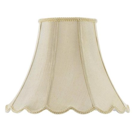 SH-8105-12-CM 12 in. Vertical Piped Scallop Bell Shade, -