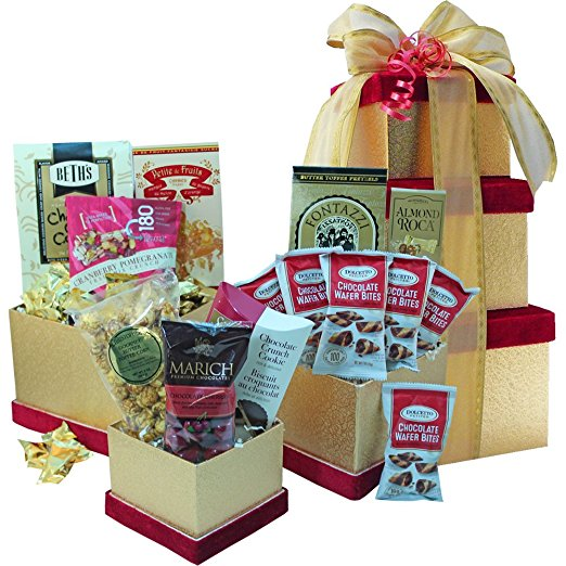 All Sweets and Treats Chocolate, Cookie and Candy Gift Tower (Candy Option)