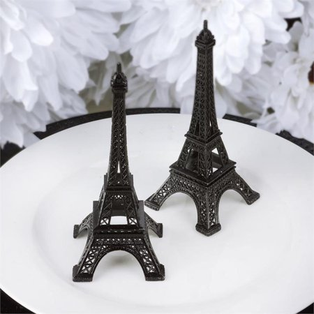 Efavormart EIFFEL Tower Banquet Centerpiece Decoration, Black, 6in ()