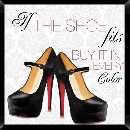 PTM If The Shoe Fits Giclee Framed Graphic Art Print